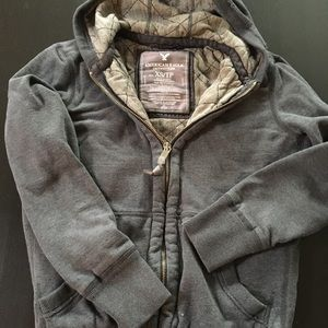 American Eagle heavy lined hoodie size XS